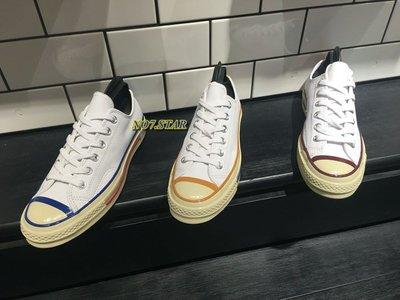 19S新款 CONVERSE ALL STAR 1970 皮革 棕 藍 土黃色 娜娜款 奶油底 三星標 低筒 男女鞋