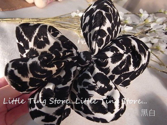 絕對獨家設計款 MIT台灣製造純手工法式緞帶 婚禮晚宴頭飾造型動物紋豹紋斑點絨布皮革款超大蝴蝶結髮夾 香蕉夾 馬尾夾