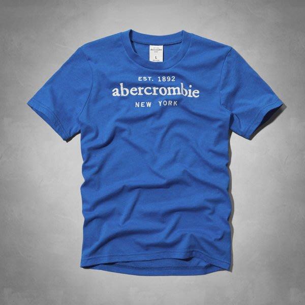 【abercrombie kids】【a&f】af男童短袖T恤繡白字寶藍色 F07140804-21