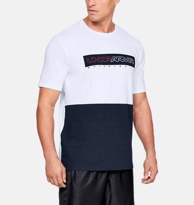 Under Armour 全新 現貨 Baseline 白色/藍色 吸濕排汗 短袖T恤 1317935 XL 大尺碼