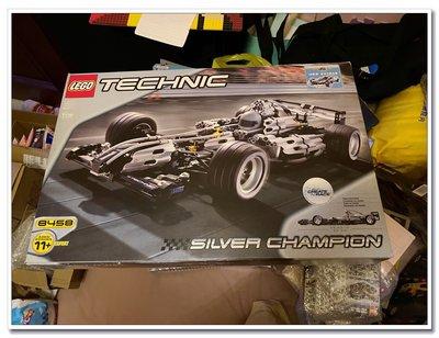 LEGO 8458 樂高積木玩具 絕版珍藏 F1 超級賽車 銀色冠軍 銀箭
