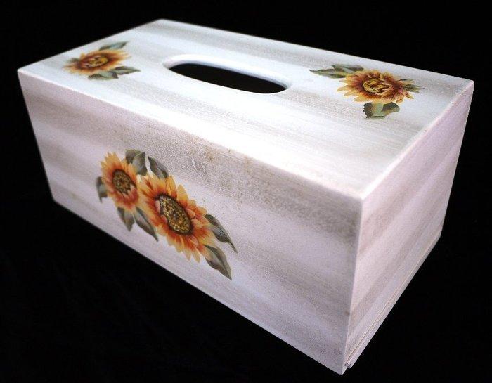太陽花彩繪面紙盒 [布拉格家居]