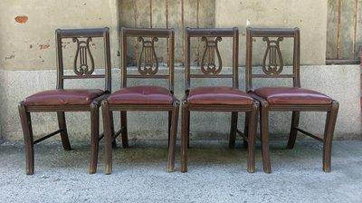日據時代古實木里拉琴背椅(全預訂)