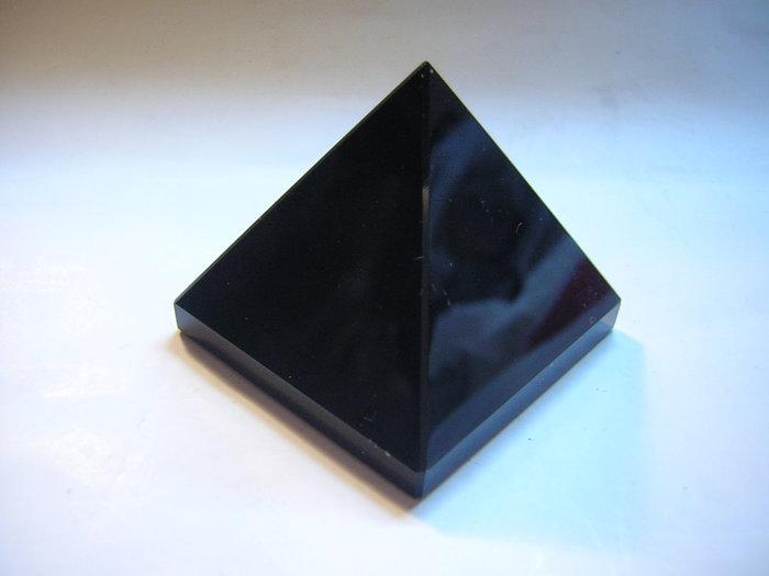 【采鑫坊】AAA級黑曜金字塔~高31mm《直購品》~