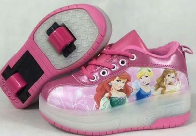 BBCWP- 公主 SHOE - 新款雙轆暴走鞋-有轆波鞋 隱形按鈕 秋冬保暖 滾軸溜冰鞋 -- 配閃光燈 - 包送
