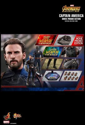 全新 Hottoys Captain America 美國隊長 MMS481 Movie Promo Edition