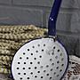 法國白藍雙色琺琅大湯匙 歐洲古董老件(00_AA-364)【小學樘_歐洲老家具】