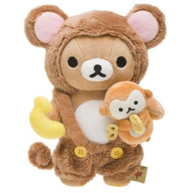 絕版❤特價《喵頭~萌》∩Rilakkuma 懶懶熊 拉拉熊∩懶熊 猴年 猴子 猴 香蕉 正月 生肖 娃娃