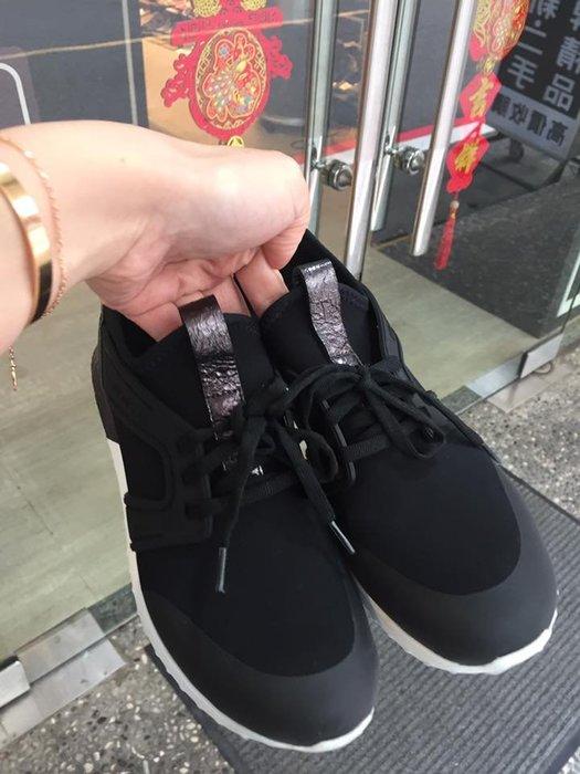 典精品名店 Moncler  真品 黑色 運動鞋 休閒鞋 尺寸 37 現貨