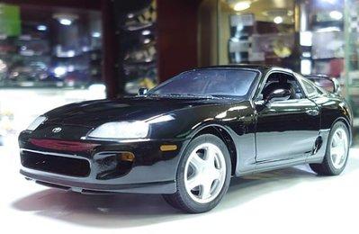 kyosho 1/18。Toyota Supra。黑頂黑配二門。原盒