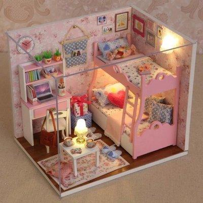 日和生活館 娃娃屋公主女童兒童玩具小女孩生日禮物6-8-9-7-10歲手工娃娃屋過家家YYPS686