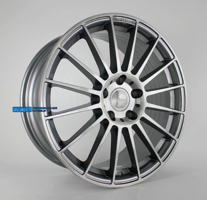 【小茵輪胎舘】MAHOM 正品 MF08 旋壓鋁圈 18吋 5孔108/114.3 8J 灰刷灰透 (配胎套餐大折扣)