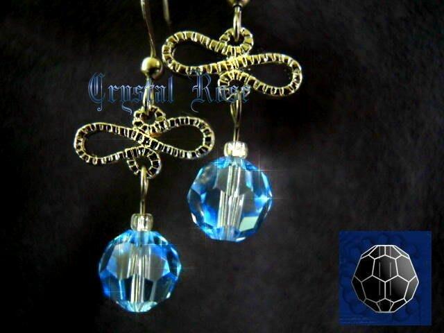 ※水晶玫瑰※ SWAROVSKI 8mm水晶珠 耳勾式針式耳環(DD332)~出清~三對免郵