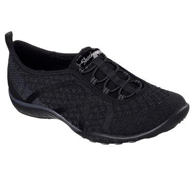 特價 SKECHERS (女)RELAXED FIT: BREATHE EASY 運動鞋  健走鞋  黑 藍