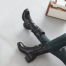 網紅粗跟短靴女靴子秋冬季2020新款女鞋中筒秋款中跟百搭馬丁冬鞋