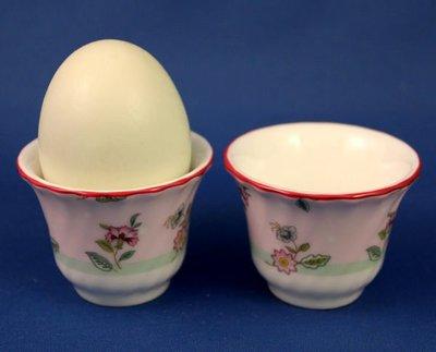 [美]超美的英國百年名瓷MINTON骨瓷蛋杯兩個FLORAL TERRACE系列,全新品