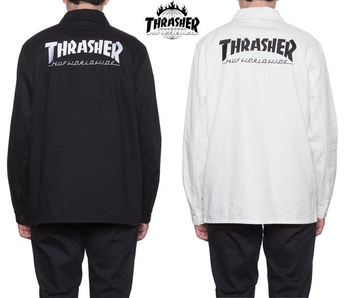 【超搶手】 全新正品 美牌 聯名 HUF x THRASHER TDS CHORE JACKET 襯衫夾克外套 S M