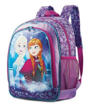 """~❤美國寶寶的衣櫥❤~(現貨)美國 Disney Frozen 冰雪奇緣 14""""  紫色後背包 生日禮"""