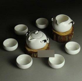 【定窯茶具套裝-月白普盒-玉瓷泥-壺200ml*1-海200ml*1-杯50ml*6-1套/組】整套茶具-7501016