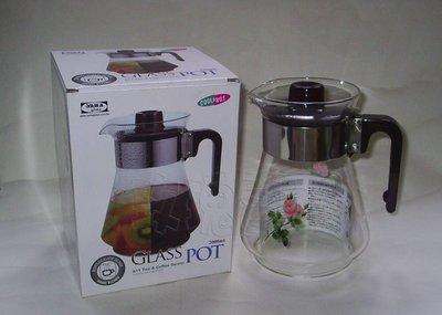 (玫瑰Rose984019賣場~2)台灣製~亞美 冷熱兩用 玻璃壺(水壺)2000CC~當泡茶壺.冷水壺(耐熱120度) 新北市