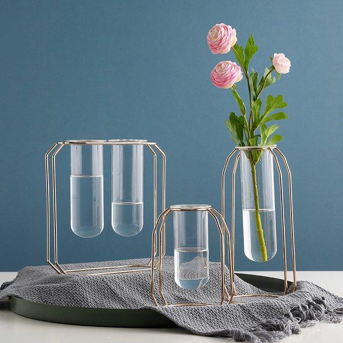 〖洋碼頭〗北歐ins創意試管花瓶鐵藝插花透明玻璃瓶家居客廳餐桌裝飾品擺件 ybj310