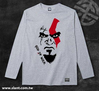 SLANT GOD OF WAR 戰神 索尼動作電玩 電子遊戲 戰神系列 設計師款 長袖棉T 客製T 合身版型 限量T