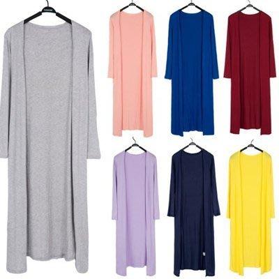 ~春夏外套薄款超長莫代爾開衫披肩防曬衣長袖空調衫棉女裝大碼 #女神衣櫥#