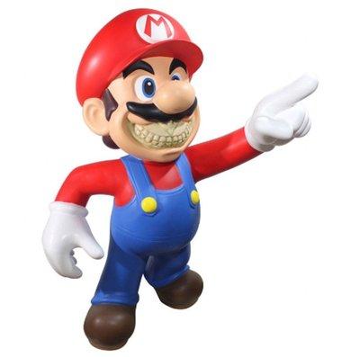 全新 Ron English Mario Grin 超級瑪利歐