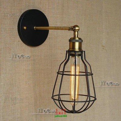 【美學】歐美復古風 可折疊鐵架仿古燈 過道臥室鏡前服裝led單頭壁燈MX_1372