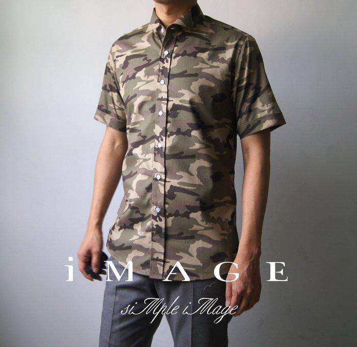 SIMPLE IMAGE迷彩襯衫短袖(現貨)