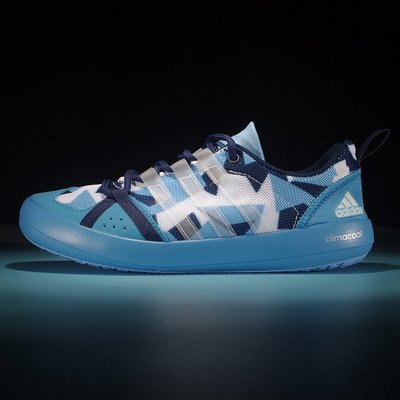 D-BOX  Adidas CLIMACOOL BOAT LACE GRAPHIC BOOST 涉水鞋 藍色