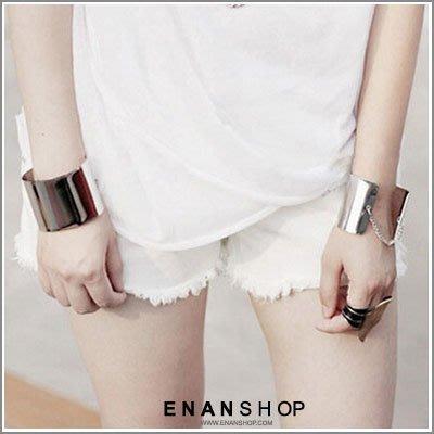惡南宅急店【0343B】韓國熱賣款 歐美時尚 大面積金屬手環質感 主張個性手環