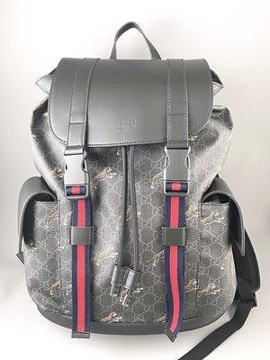 [我是寶琪] 全新未用 GUCCI  GG至尊老虎印後背包