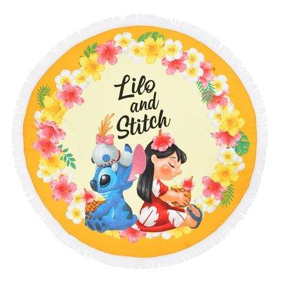 Hawaiian Stitch《現貨》日本迪士尼商店 正版~ 史迪奇 圓形沙灘巾 沙灘巾 野餐墊瑜珈墊 桌布 地毯