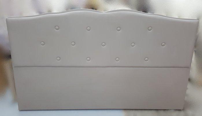 宏品二手家具館 台中柚木傢俱賣場 B60611灰色皮革6尺床頭片/ 床頭板*2手家具拍賣床組 床箱 衣櫥 斗櫃 化妝桌