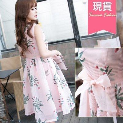 ❤Shinena 千奈公主❤ 蝴蝶繫帶粉色氣質洋裝【 Q3-1012】
