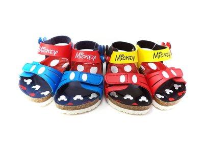 Disney迪士尼米奇前後可調整氣墊涼鞋.童鞋(藍色.紅色)台灣製造.463807