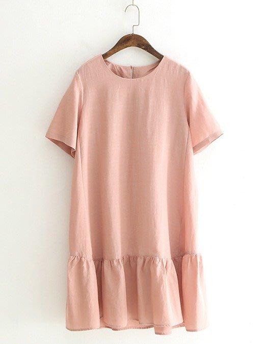 楞宅 ~ 春夏小清新棉麻連身裙A字裙魚尾裙洋裝 / LG36