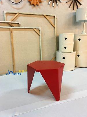 【挑椅子】日本設計師設計 Prismatic Table 六角小茶几 (復刻品) TA-002 紅色