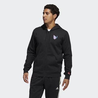 【AIRWINGS】ADIDAS GP6259 男性黑色DAME DOTD運動連帽外套