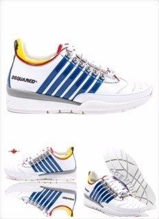 喬瑟芬【DSQUARED 2】特價$12000含運~2014秋冬White leather sneakers綁帶休閒鞋