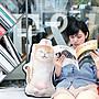 朝隈俊男 Animal Life 貓瑜珈寶寶 橘貓 伸懶腰 大抱枕 靠枕