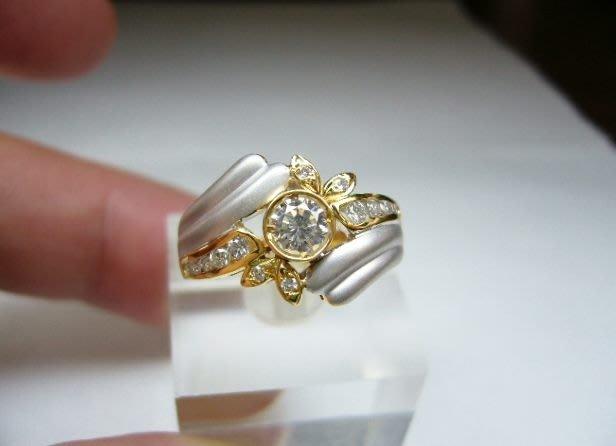 [吉宏精品交流中心]32分 南非天然鑽石 黃K金 造型 戒指(公關禮物)