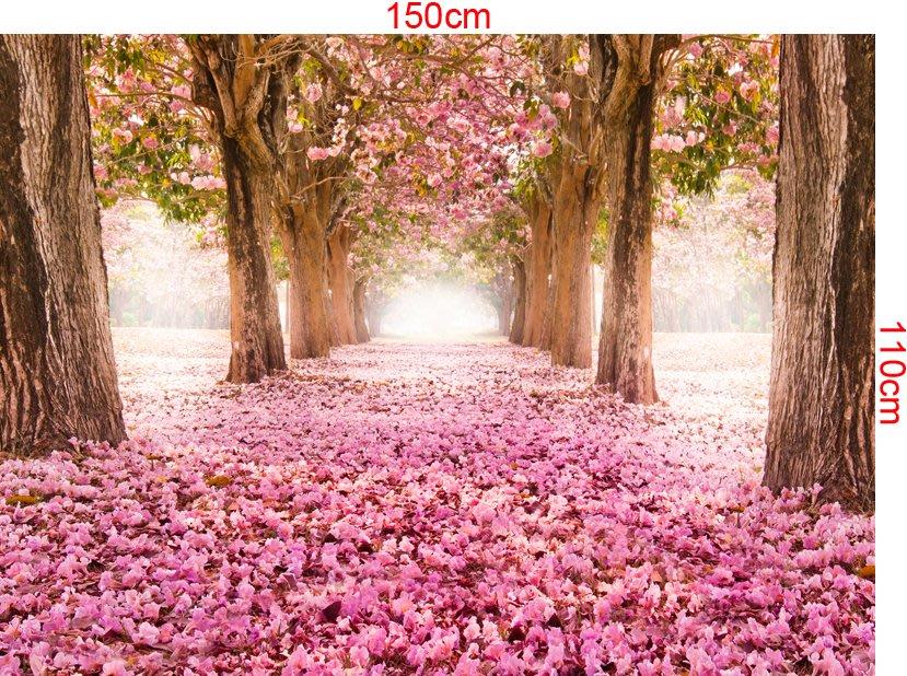 下標區 客製化壁貼 店面保障 編號F-120 粉紅櫻花林 壁紙 牆貼 牆紙 壁畫 星瑞 shing ruei