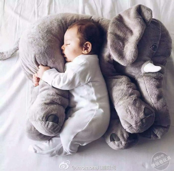 Misa Shop~(此款有毯子唷!!大量現貨,現買現寄)宜家大象 公仔抱枕 毛絨玩具 陪睡娃娃 寶寶睡覺玩偶  禮物