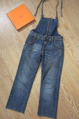 *beauty*  韓DISCOVERED藍色吊帶牛仔褲 二穿牛仔褲     1000 元YK