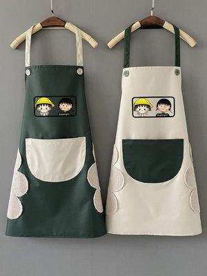 廚房日用 可批發廚房圍裙防水防油家用裙子女時尚可愛日系韓版大人工作服男士定制