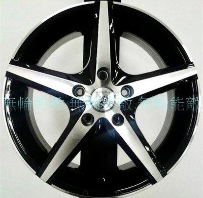 全新鋁圈 EQ 16吋 4孔100 5孔114.3 6.5J 亮黑底車面