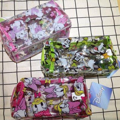 迪士尼台灣授權 瑪麗貓 唐老鴨黛西 高飛狗手繪透明防水化妝包 防水收納包 可愛筆袋 旅行收納立體萬用包 交換禮物
