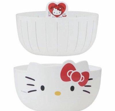 ♥小飛麻麻 雜貨 代購♥ 日本代購 Hello kitty 大頭造型 濾水籃 洗菜籃